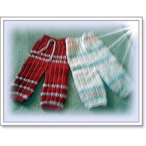 Duas Peças, Calça Lã P Bebe, Feita A Mão. Crochê!!