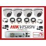 Kit Seguridad Dvr Hikvision 4 Ch + 4 Domo Exterior Metálica