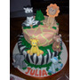 Tortas Decoradas Infantil Selva Animalitos Zoo 4kg Deco Inc