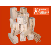 Cubos Didácticos Artesanales De Madera Para Armar X24 Piezas