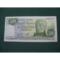 Billete Argentina 500 Pesos Ley 18188 # 2428
