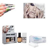 Kit Esmalte Efecto Espejo+luxury+100 Nail Wipe Chrome Mirror