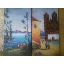 Pinturas De Óleo Sobre Tela Antiguas Para Decoración !!!!