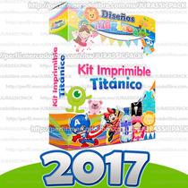 Kit Imprimible Titanico Invitaciones Recuerdos Tarjetas