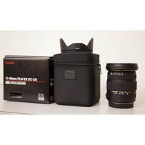 Lente Sigma 17-50mm F/2.8 Ex Dc Os Hsm Nova P/ Nikon + Uv