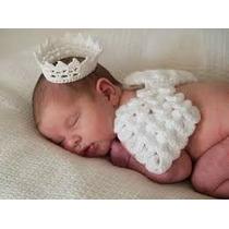 Asinha De Anjo Coroa, Newborn, Fantasia, Recem Nascido Asa