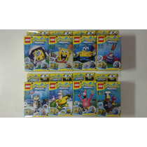 Colecao Completa Lego 8 Bonecos Bob Esponja