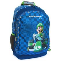 Mochila Escolar Luigi Mario Kart Chenson