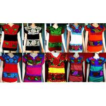 Blusas Zinacantan Artesanales Doble Bordado A Mano - Chiapas