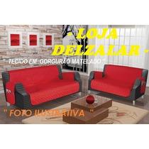 Protetor De Sofá Em Gorgurão Matelado C/ Forro + Brinde