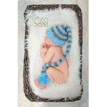 Newborn Touca Gorro Croche Bebê Ensaio Fotográfico