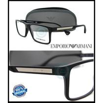 Armazon Oftalmico Emporio Armani Ea3038 5063 Black Rubber