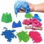 Arena Mágica Nunca Se Seca +6 Moldes Play Sand Colores Neon