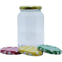 10 Pote De Vidro Conserva Para Saladas E Bolo 500ml Geleia