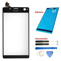 Xperia C4 Touch Screen E5306 E5303 E5333 Adhesivo Kit Negro