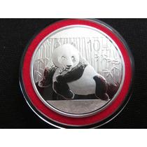 Moneda Onza De Plata Panda China 2015