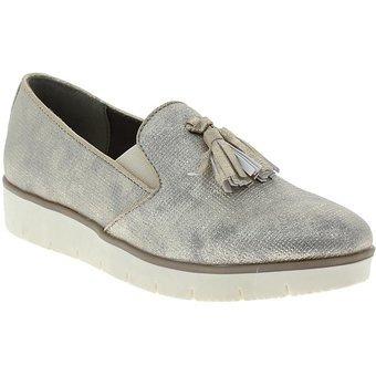 99ab3b9c7aded Zapato Oxford Mujer Via Spring - Plateado -   124.180 en Mercado Libre