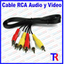 Cable Rca Audio Y Video 1.5 Mts Para Dvd Tv Decodificador