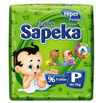 Fralda Sapeka Hiper P ( 96 Fraldas )