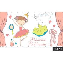 Bailarina Princesa Painel 3,00x1,70m Lona Festa Aniversário