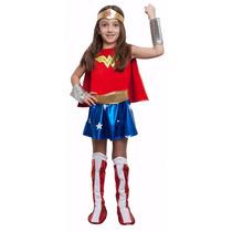 Disfraz Mujer Maravilla Con Accesorios Original Excelente