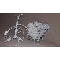Bicicleta Decorativa Ferro Branca