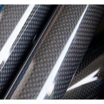 Tubo Em Fibra De Carbono 3k Com 25mm X 23mm X 1 Metro.