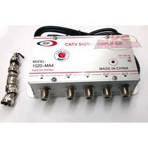 Amplificador De Señal De 20db 4 Salidas Antena/video Cable