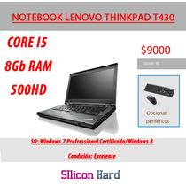 Notebook Lenovo Thinkpad T430 Corei5 8gbram 500hdd