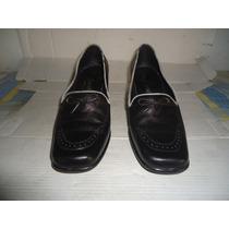 Zapatos De Dama Usados Negros #37 De Cuero Colombiano