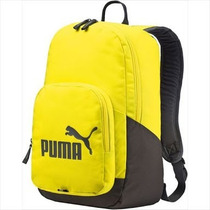 Mochila Puma 100% Originales Escolar O Gimnasio Amarillo