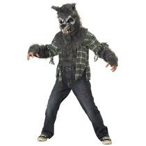 Disfraz Hombre Lobo Niño Halloween Lobito Gris
