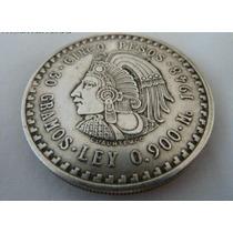Moneda Decorativa Cinco Pesos Cuauhtemoc Replica Mexico 1947