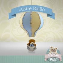 Balão Grande Lustre Leão Urso Bebê Especial Luminária Luxo