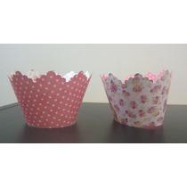 Porta Cupcakes De Cartulina Estampada Bifaz (x10 Unidades)