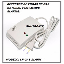 Alarma Detector Fuga Gas Envasado Y Natural Cocina Hogar