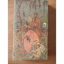 Antigua Pintura Grabada Y Pintada En Madera. Cupido