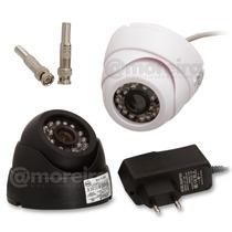 Kit 4 Cameras Dome Cftv 1200l 24 Leds Infra Circuito Interno