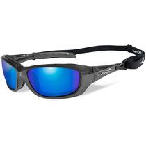 Gafas Wiley X Militares Con Marco Gravity Pol Blue Mirror