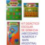 Set Didáctico Abecedario, Números Y Mapa Argentino De Goma.