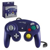 Control Usb Gamecube Nintendo Retro Link Pc Morado