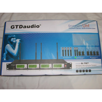 Sistema Profesional De Micrófonos Inalámbricos Uhf Gtd Audio