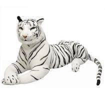Mega Tigre Branco Gigante Grande Mesmo Pelucia 1,65 Metros