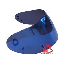 Viseira Capacete Mt Joker Casino Drago Original Azul Iridiun