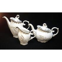 Antigo Jogo De Bules Desenho Trigo Em Porcelana Schmidt