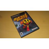 Pac Man World Ps2 Americano Original Completo Black Label !!