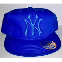 Gorra Visera Plana Ny Yankees Azul Snapback Regalos