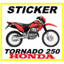 Tuning Motos Honda Tornado 250 Calcomanias, Monster, Fox