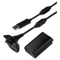 Bateria Recarregavel P/ Controle Xbox 360 + Cabo Carregador