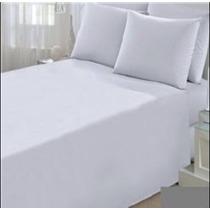 Kit 10 Lençóis Branco Sem Elástico Solteiro, Hotel Promoção